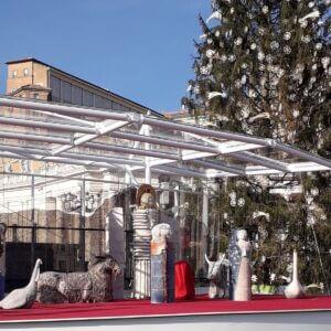 Julekrybben på Peterspladsen i Rom – Julen 2020