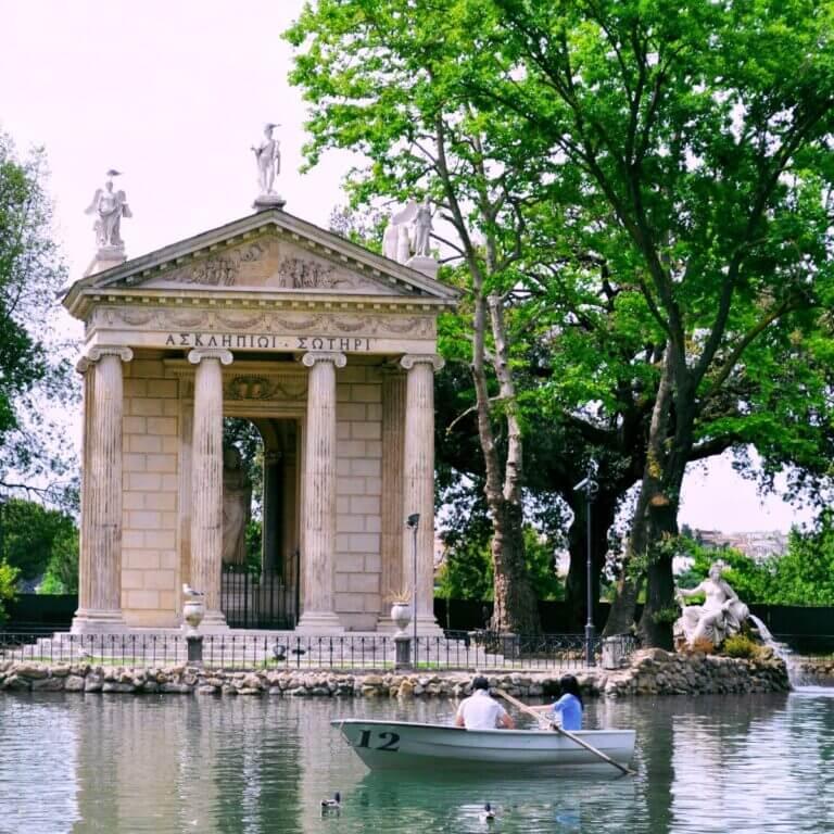 Forår i Rom Villa Borghese