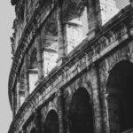 Colosseum i Rom - Sort-hvid billede