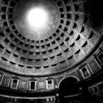 Pantheon i Rom - Sort-hvid billede