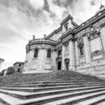 Santa Maria Maggiore basilikaen i Rom - Sort-hvid billede