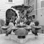 Skildpaddefontænen i Roms jødiske ghetto - Sort-hvid billede